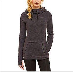 Nike therma-fit grey hooded cowl neck sweatshirt L